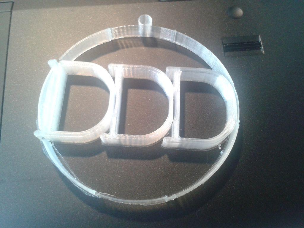 Soutěžní ozdoba B - Kruh s DDD