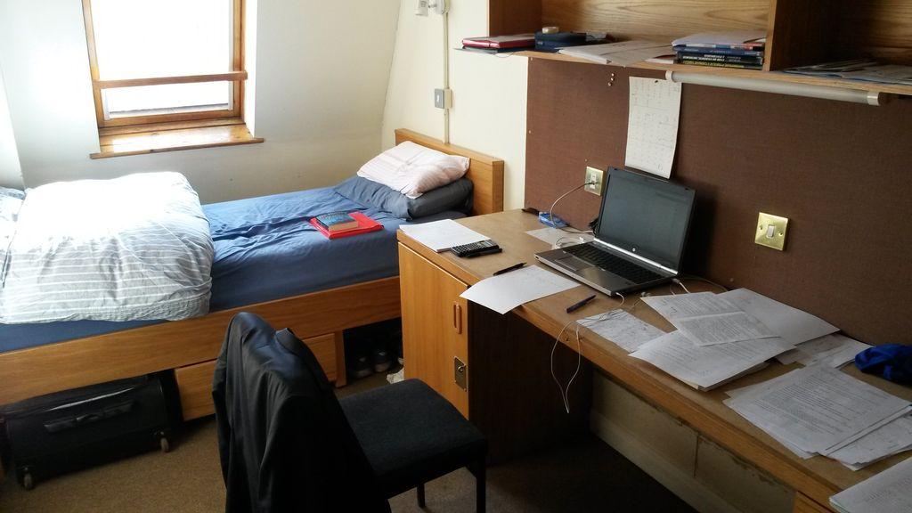 Takto vypadá můj pokoj na koleji